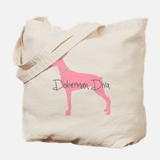 Diamonds Doberman Diva Tote Bag