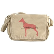 Diamonds Doberman Diva Messenger Bag