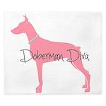 Diamonds Doberman Diva King Duvet
