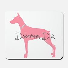 Diamonds Doberman Diva Mousepad
