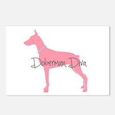 Diamonds Doberman Diva Postcards (Package of 8)