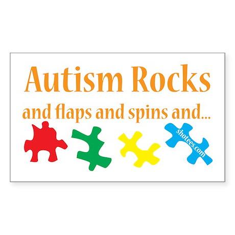 Autism Rocks... Sticker (Rectangle)