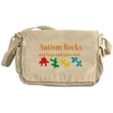 Autism rocks Messenger Bags & Laptop Bags