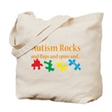 Autism rocks Bags & Totes