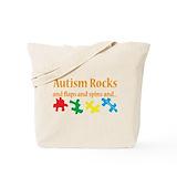 Autism rocks Canvas Bags