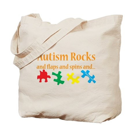 Autism Rocks... Tote Bag