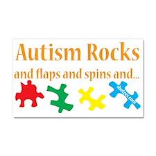 Autism Rocks... Car Magnet 20 x 12