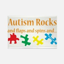 Autism Rocks... Rectangle Magnet