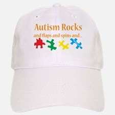 Autism Rocks... Baseball Baseball Cap