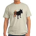 Grunge Bull Terrier Silhouette Light T-Shirt