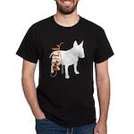 Grunge Bull Terrier Silhouette Dark T-Shirt