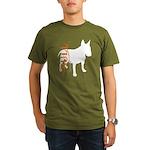 Grunge Bull Terrier Silhouette Organic Men's T-Shi
