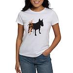 Grunge Bull Terrier Silhouette Women's T-Shirt