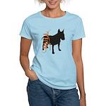 Grunge Bull Terrier Silhouette Women's Light T-Shi