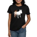 Grunge Bull Terrier Silhouette Women's Dark T-Shir