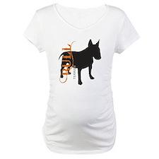 Grunge Bull Terrier Silhouette Shirt