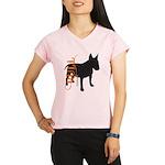 Grunge Bull Terrier Silhouette Performance Dry T-S