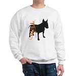 Grunge Bull Terrier Silhouette Sweatshirt