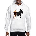 Grunge Bull Terrier Silhouette Hooded Sweatshirt