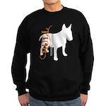 Grunge Bull Terrier Silhouette Sweatshirt (dark)