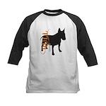 Grunge Bull Terrier Silhouette Kids Baseball Jerse