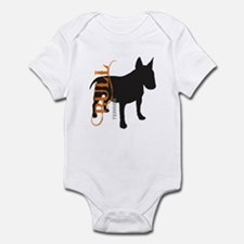 Grunge Bull Terrier Silhouette Infant Bodysuit