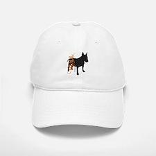 Grunge Bull Terrier Silhouette Baseball Baseball Cap