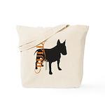 Grunge Bull Terrier Silhouette Tote Bag