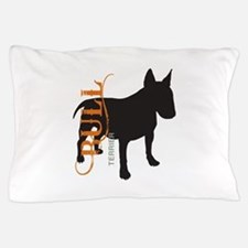 Grunge Bull Terrier Silhouette Pillow Case