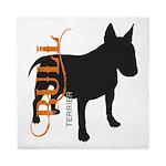 Grunge Bull Terrier Silhouette Queen Duvet