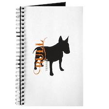 Grunge Bull Terrier Silhouette Journal