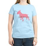 Diamonds Bull Terrier Diva Women's Light T-Shirt