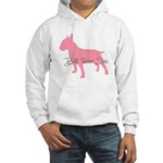Diamonds Bull Terrier Diva Hooded Sweatshirt