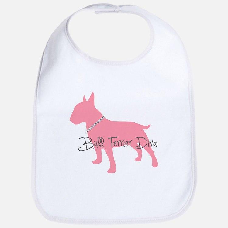 Diamonds Bull Terrier Diva Bib