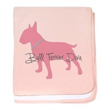 Diamonds Bull Terrier Diva baby blanket