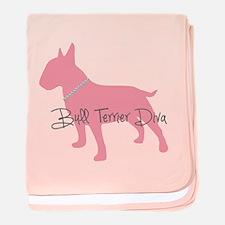 Diamonds Bull Terrier Diva baby blanket