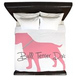 Diamonds Bull Terrier Diva King Duvet