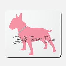 Diamonds Bull Terrier Diva Mousepad