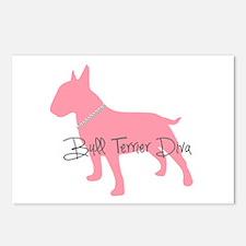 Diamonds Bull Terrier Diva Postcards (Package of 8