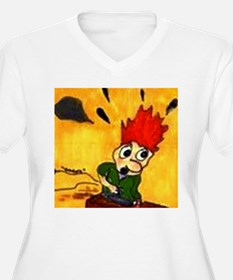 Comic Character Trouble T-Shirt