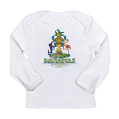 3D Bahamas Long Sleeve Infant T-Shirt