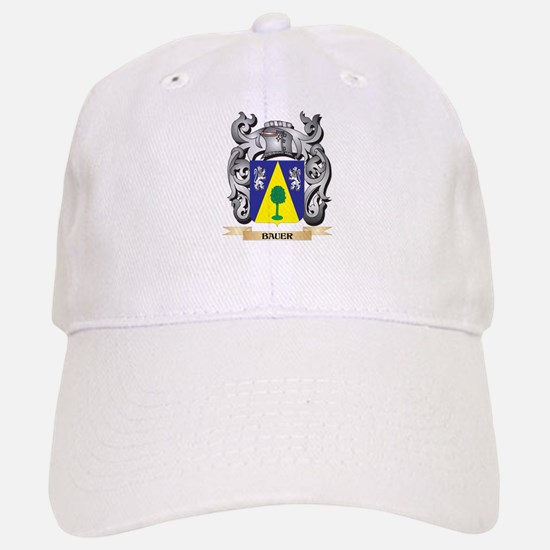 Bauer Family Crest - Bauer Coat of Arms Baseball Baseball Cap