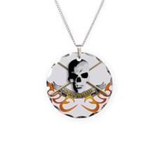 Cute Drum and bass Necklace Circle Charm