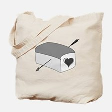 Cute The boy with the bread Tote Bag