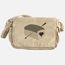 Cute The boy with the bread Messenger Bag