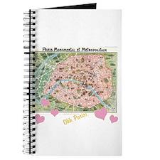 Cute France map Journal
