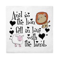 Lion fell in love with lamb Queen Duvet