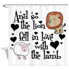 Lion fell in love with lamb Shower Curtain