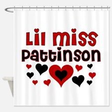 Lil Miss Pattinson Shower Curtain