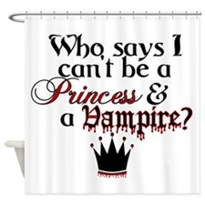 Princess Vampire Shower Curtain